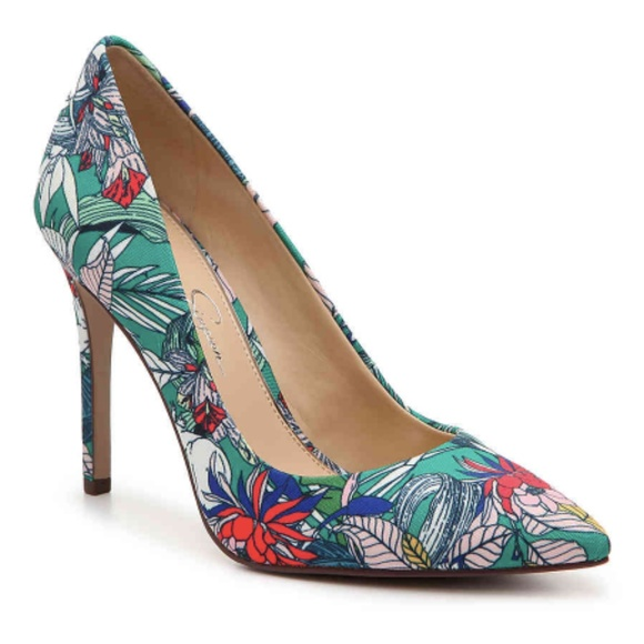 218a6b0404 Jessica Simpson Shoes | Purla Pump Green Floral | Poshmark